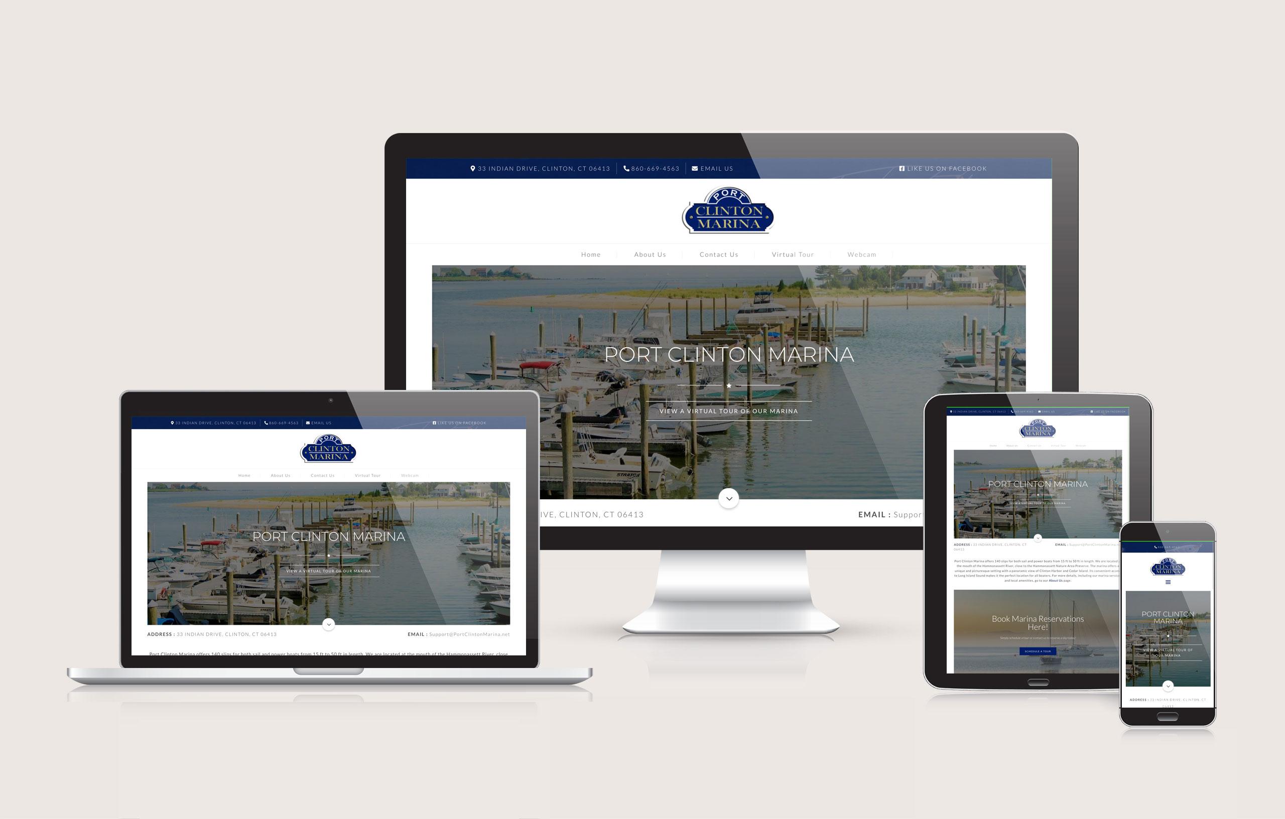 Port Clinton Marina - Website Layout Design