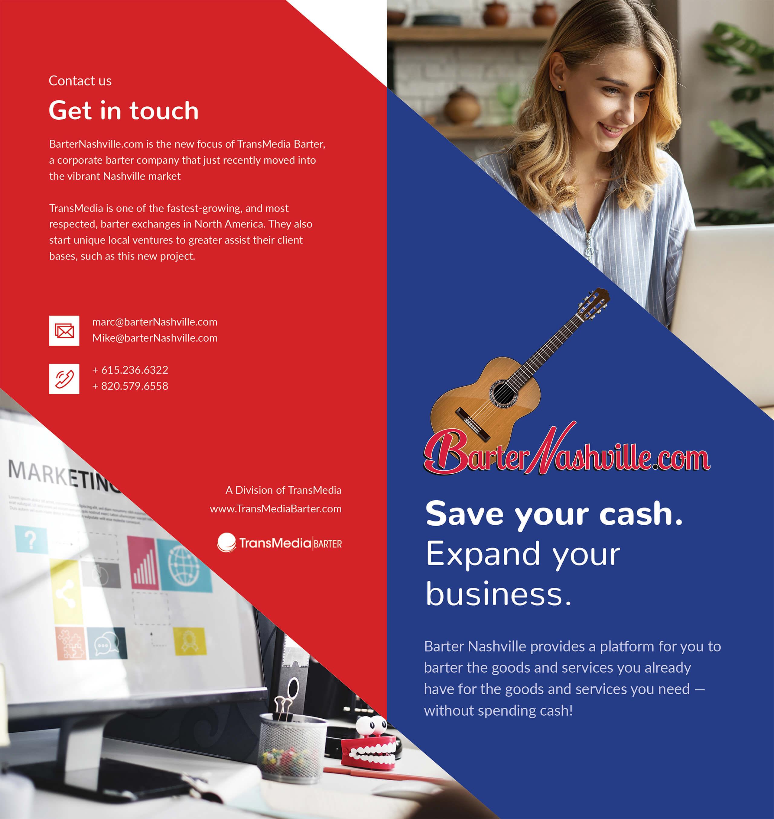 Barter Nashville - Full Front Bifold Brochure Design by Ok Omni