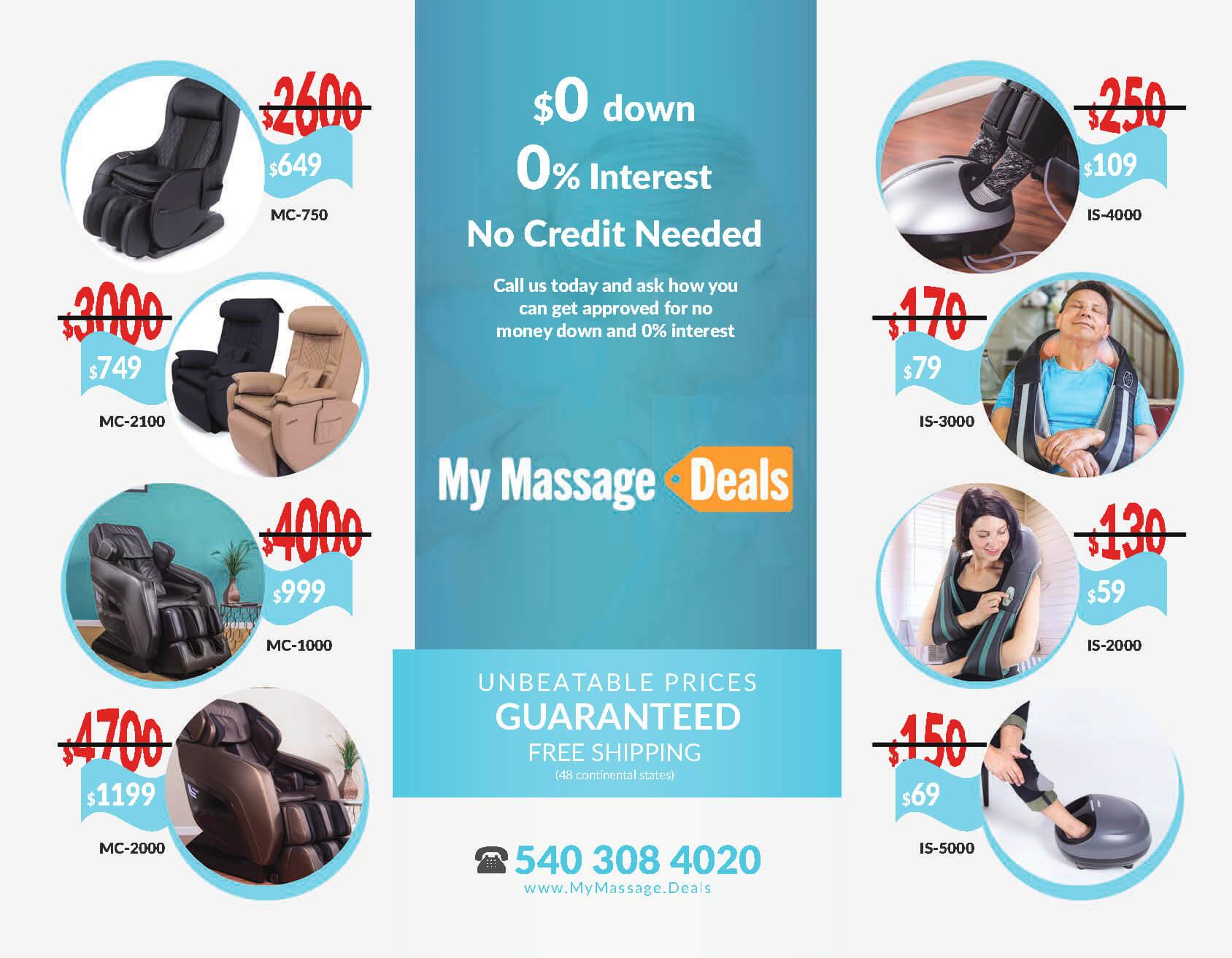 My Massage Deals - TriFold Brochure Layout Design - Full Inside