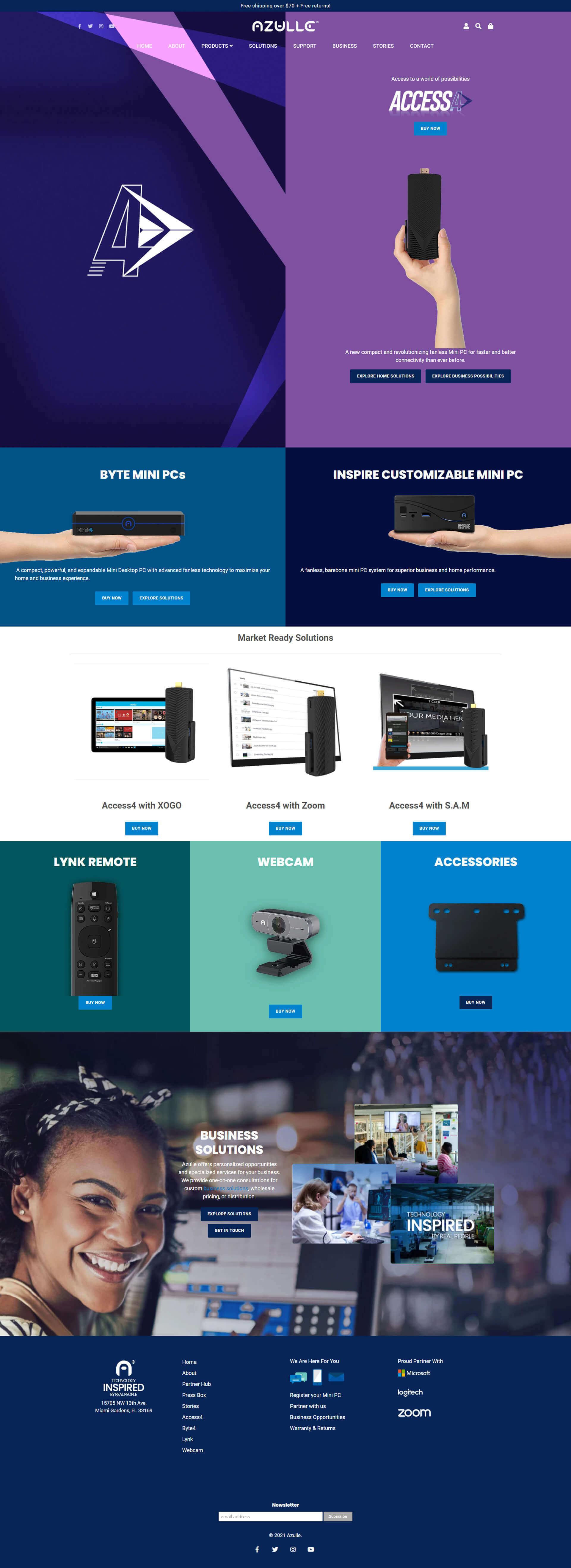 Kayman Charters - Full Page Website Layout